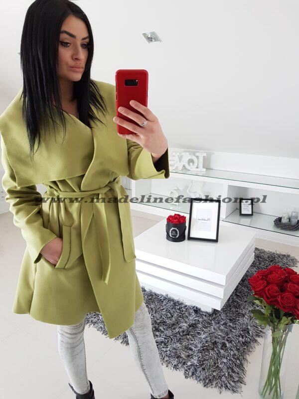 płaszcz flauszowy limonka