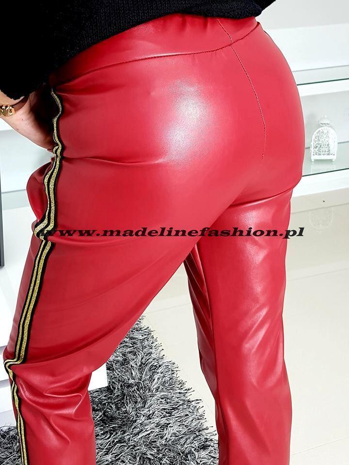 products 0002918 spodnie skora strips bordo 1
