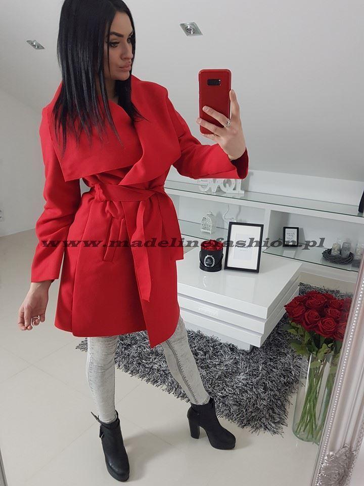 products 0003141 plaszcz czerwony dlugi z flauszu 1