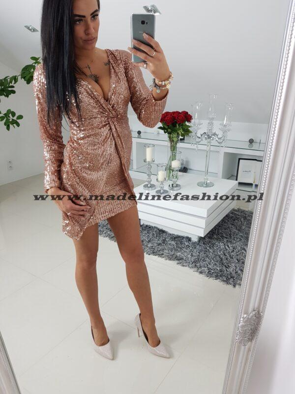 Sukienka Cekinowa Rose Gold Daren II