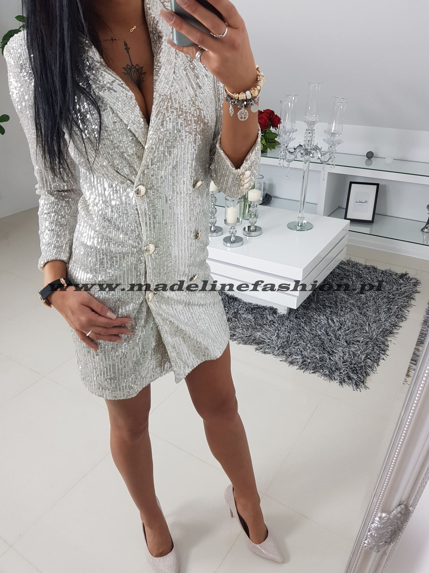 products 0003256 sukienka cekinowa bezowy frederik 1