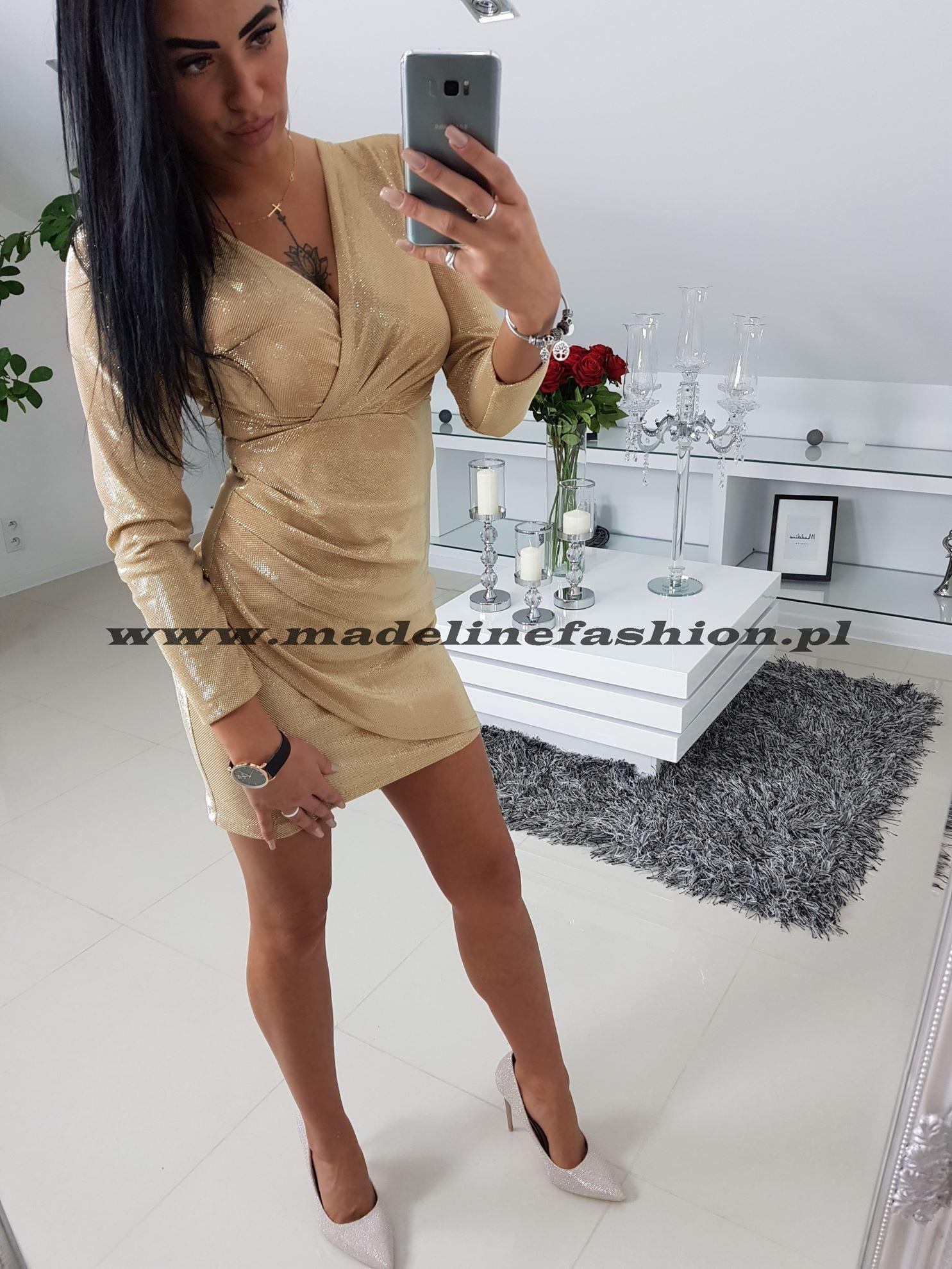 products 0003263 sukienka cekinowa zlota davis 1