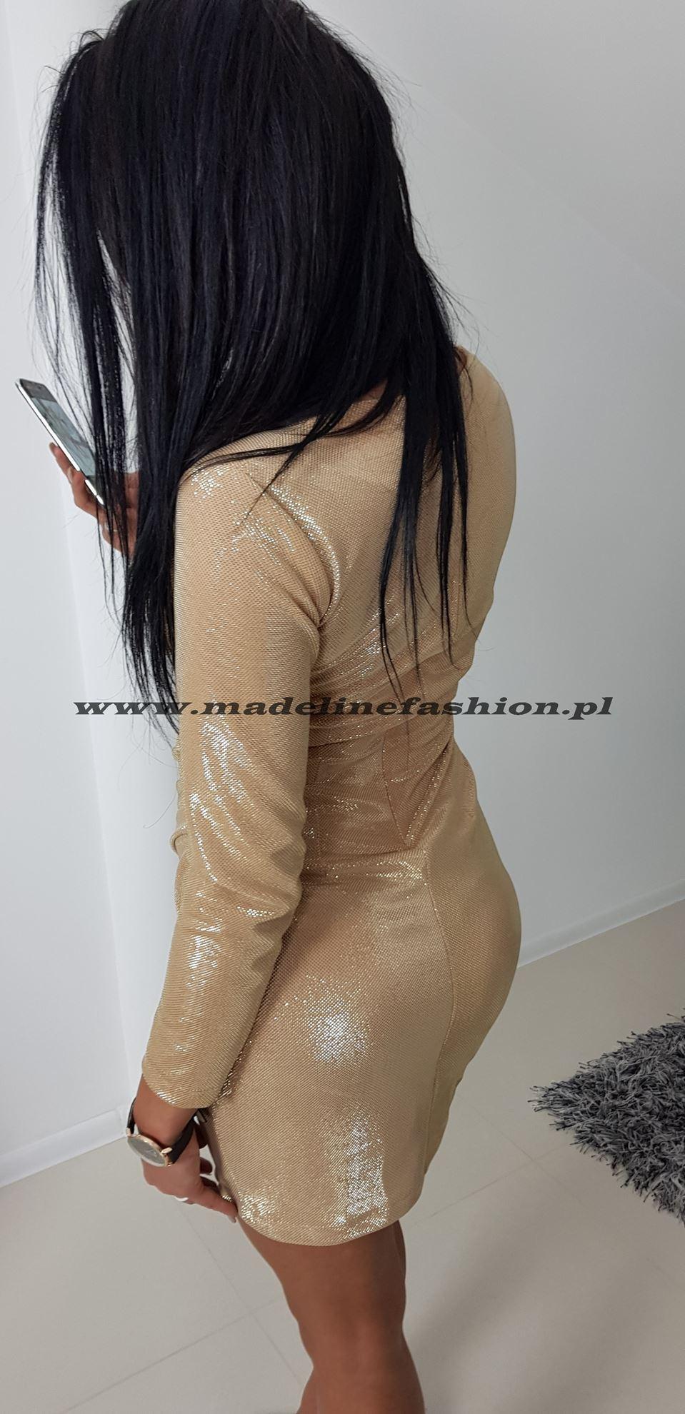 products 0003265 sukienka cekinowa zlota davis 1