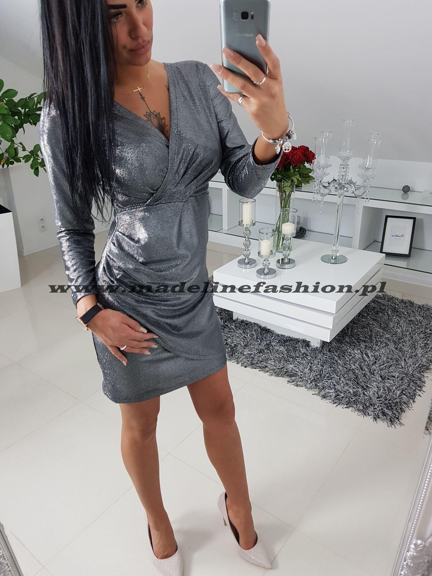 products 0003271 sukienka cekinowa srebrna davis 1