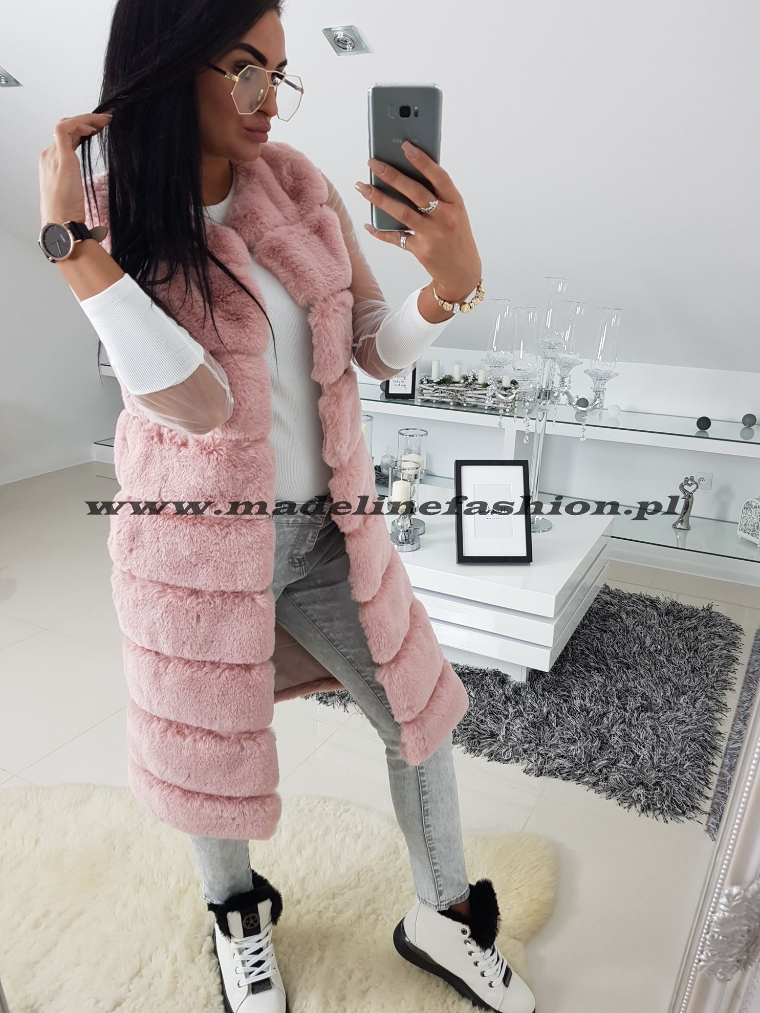 products 0003372 kamizelka rozowa mis dluga 1
