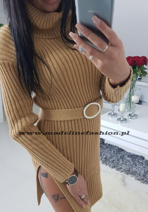 products 0003413 sukienka sweterkowa z golfem denver camel 1