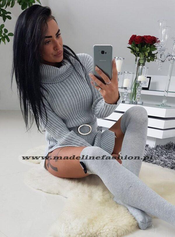 products 0003415 sukienka sweterkowa z golfem denver jasno szara 1