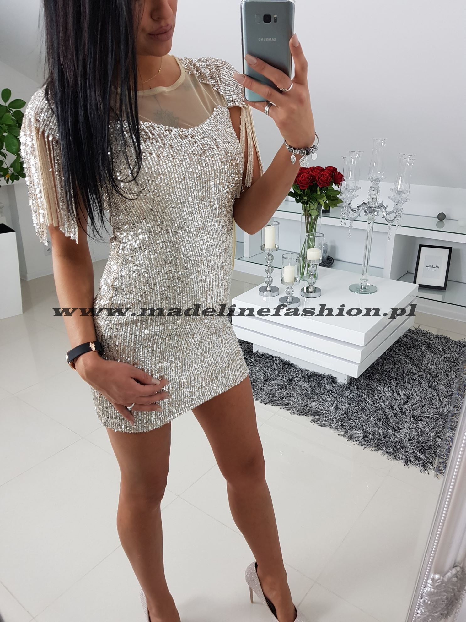 products 0003429 sukienka cekinowa zlota sarita i 1