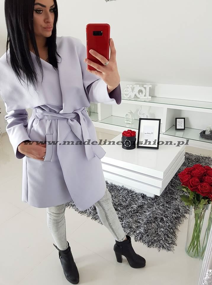products 0002646 plaszcz jasny fiolet dlugi z flauszu 1