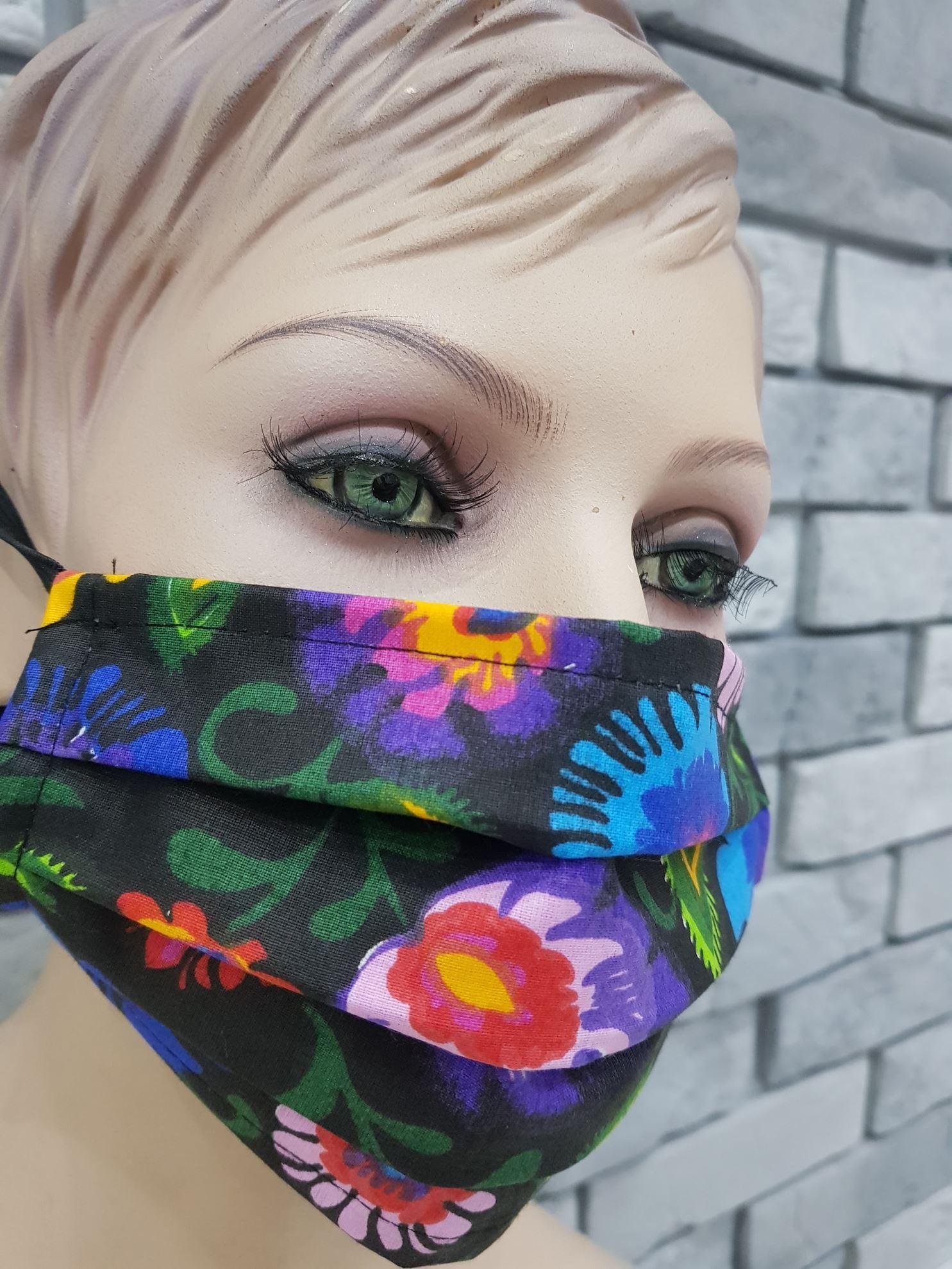 products 0003474 maseczka na twarz dwie warstwy bawelna multi kwiaty 1