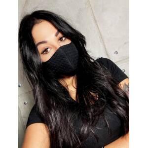 products 0003478 maska na twarz maseczka ochronna czarna pikowana 1