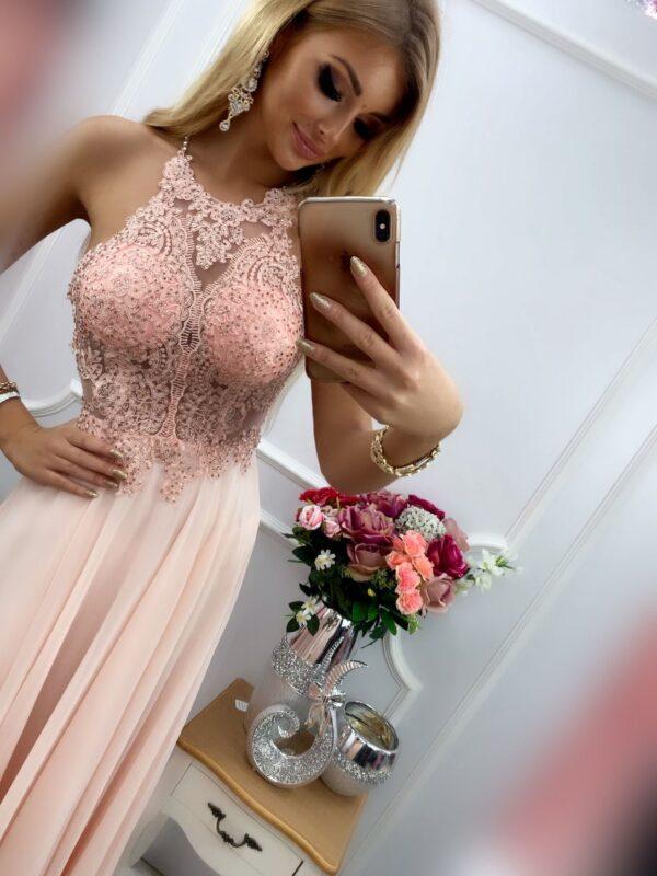 products 0003487 sukienka mercedes dluga pudrowy roz 1