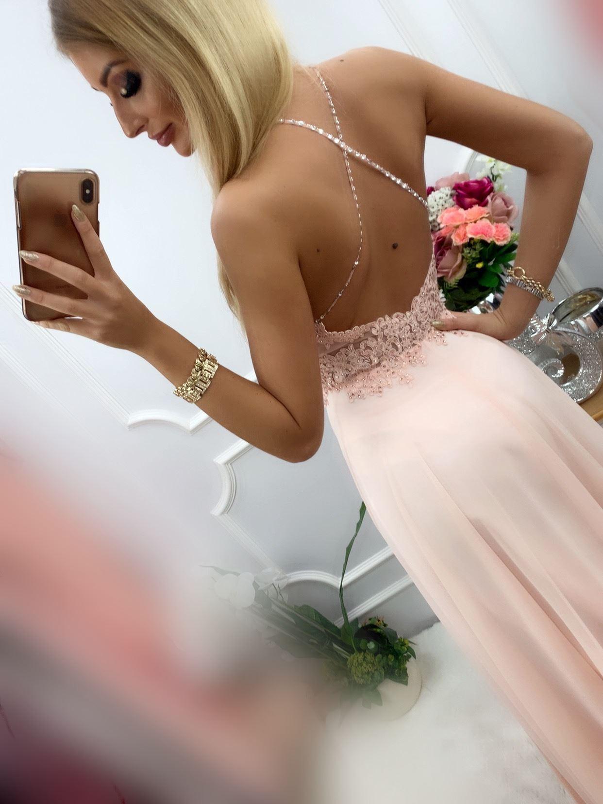 products 0003488 sukienka mercedes dluga pudrowy roz 1