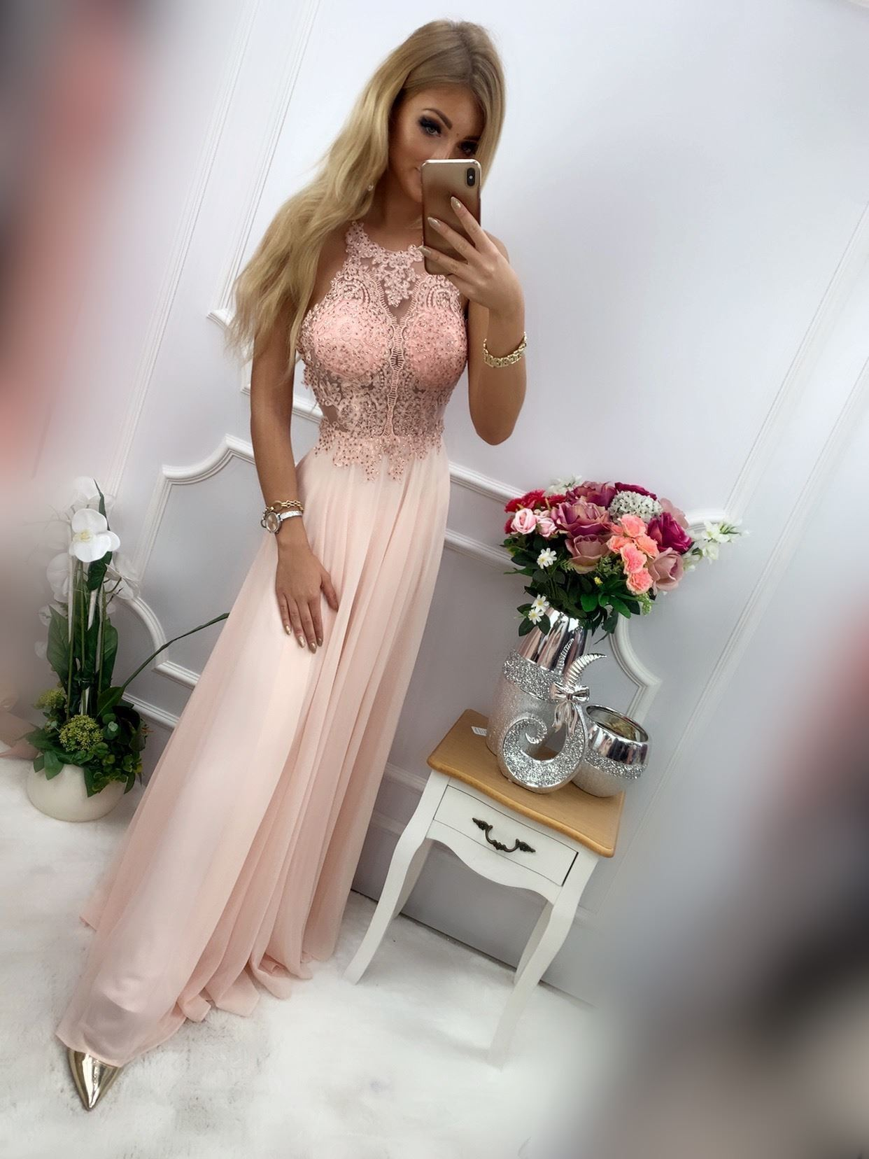 products 0003489 sukienka mercedes dluga pudrowy roz 1