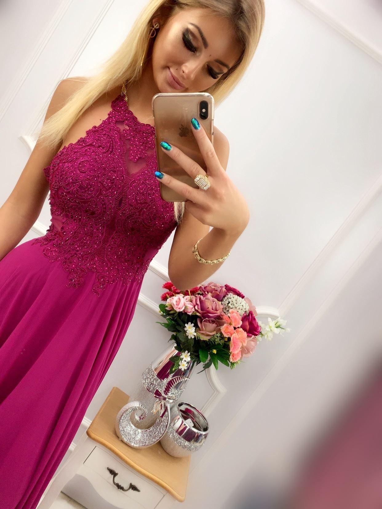 products 0003505 sukienka mercedes dluga fioletowa 1