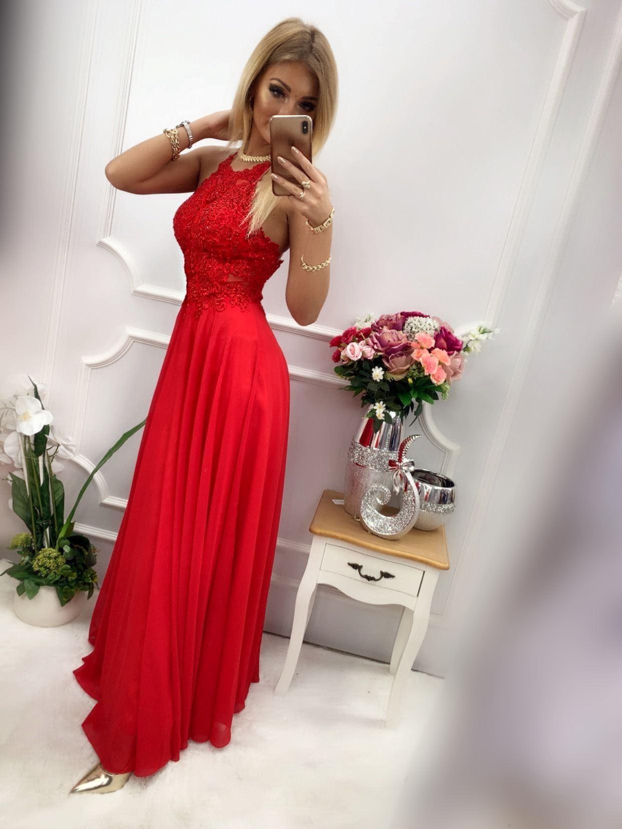 products 0003511 sukienka mercedes dluga czerwona 1