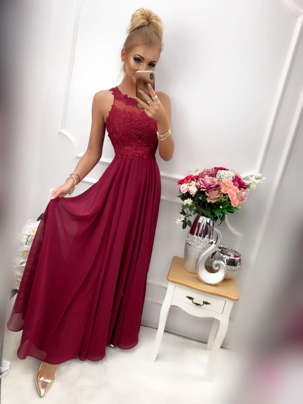 products 0003536 sukienka bugatti dluga bordowa 1