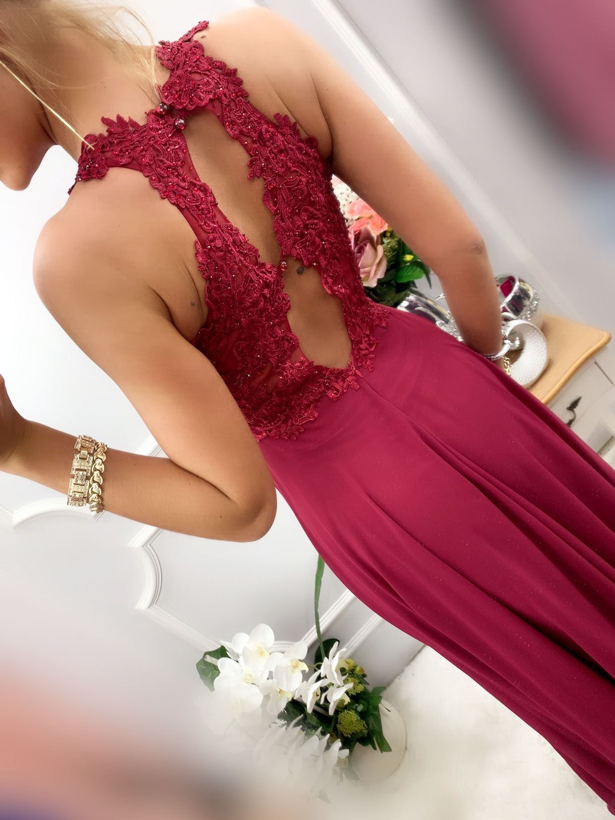 products 0003537 sukienka bugatti dluga bordowa 1