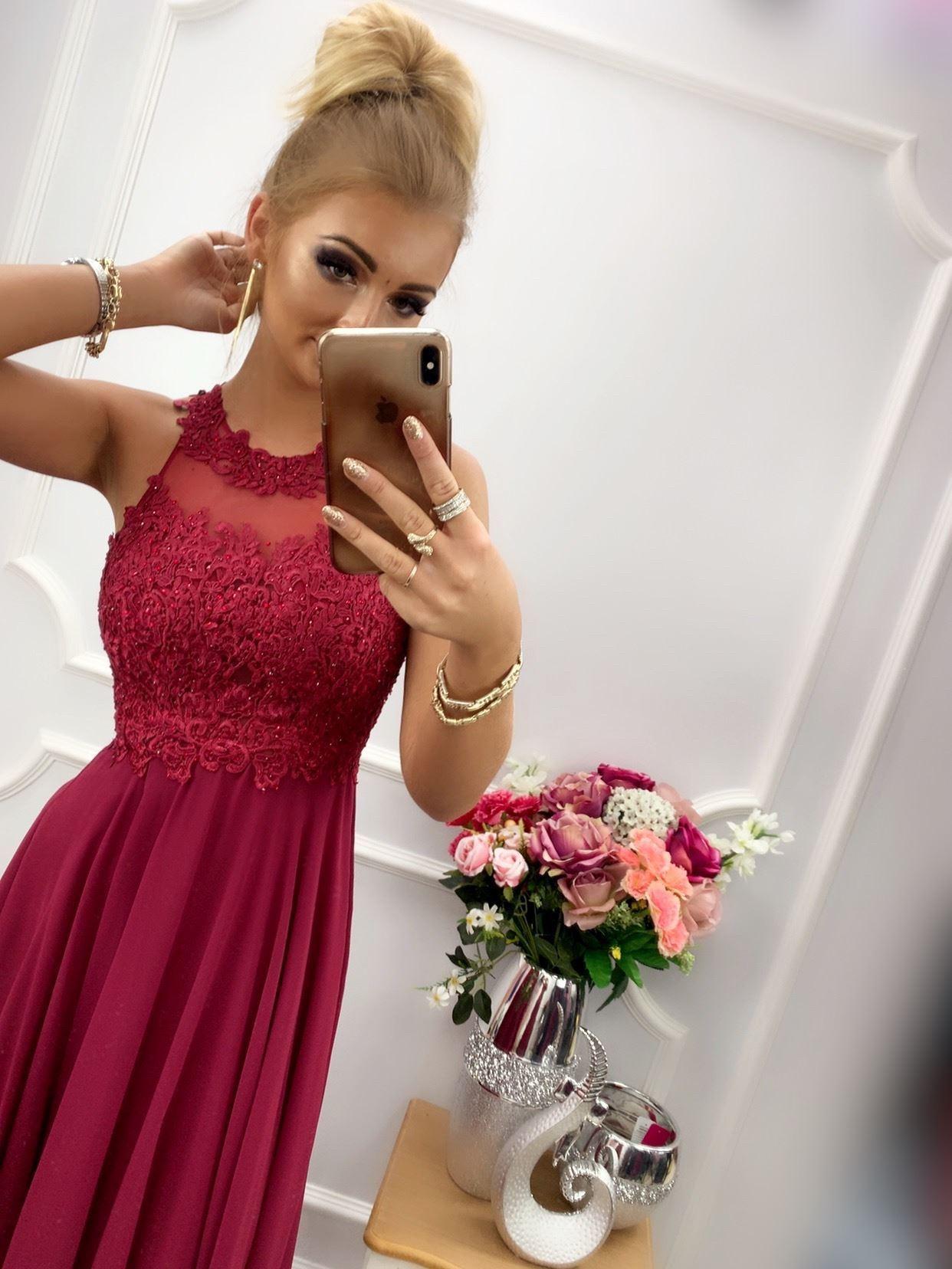 products 0003539 sukienka bugatti dluga bordowa 1