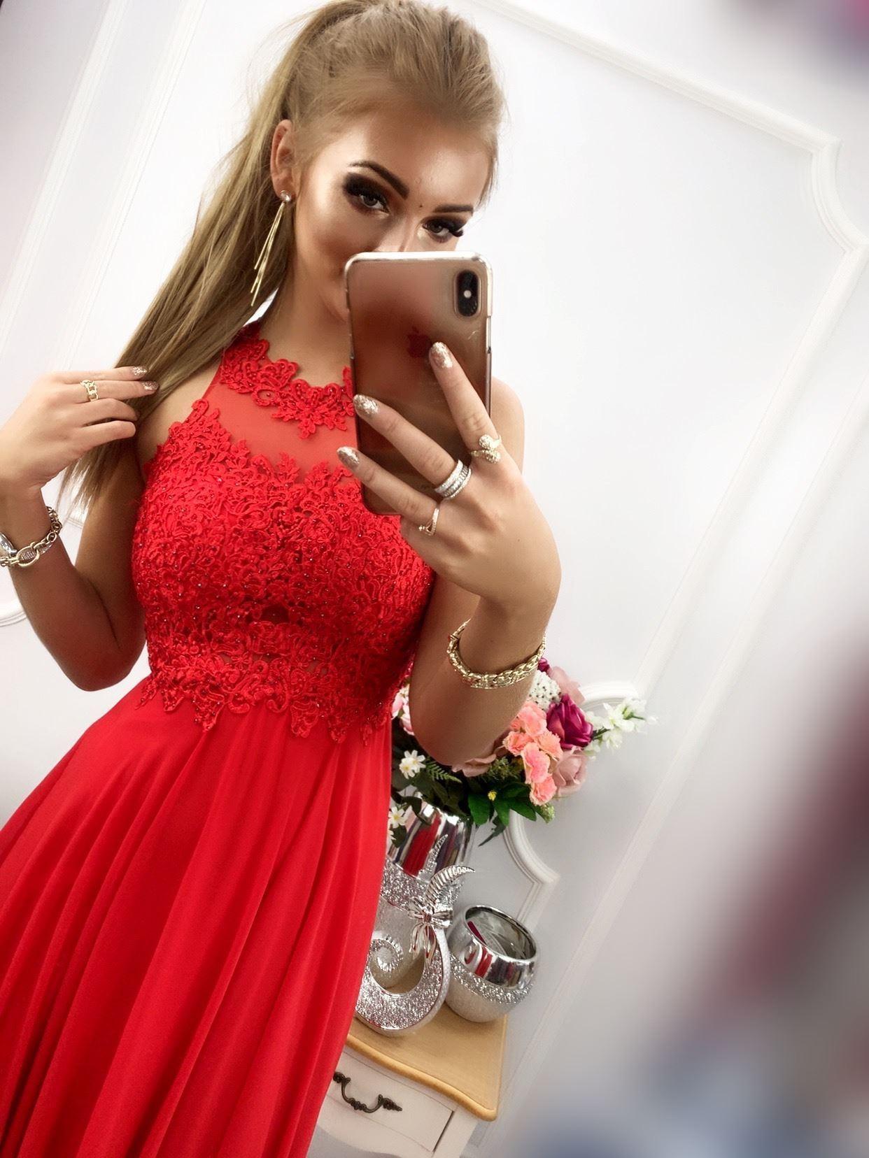 products 0003545 sukienka bugatti dluga czerwona 1