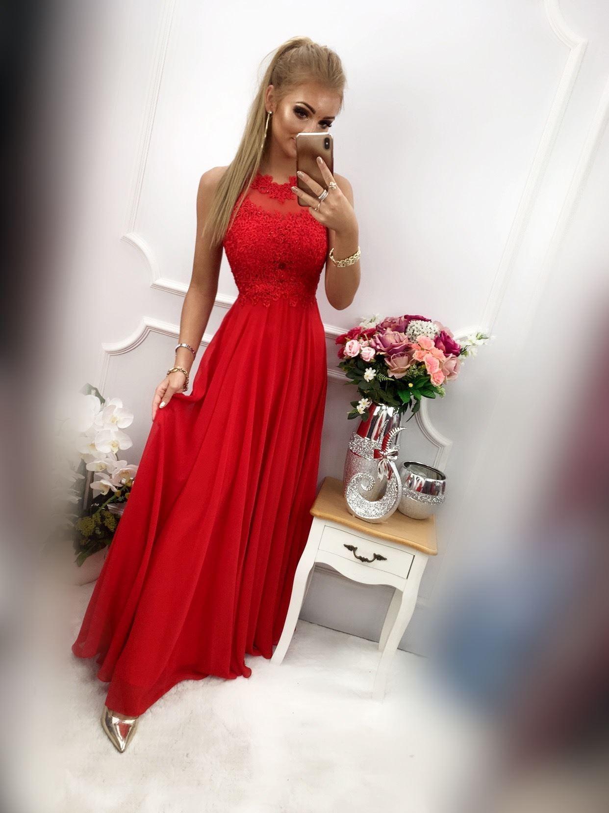 products 0003547 sukienka bugatti dluga czerwona 1