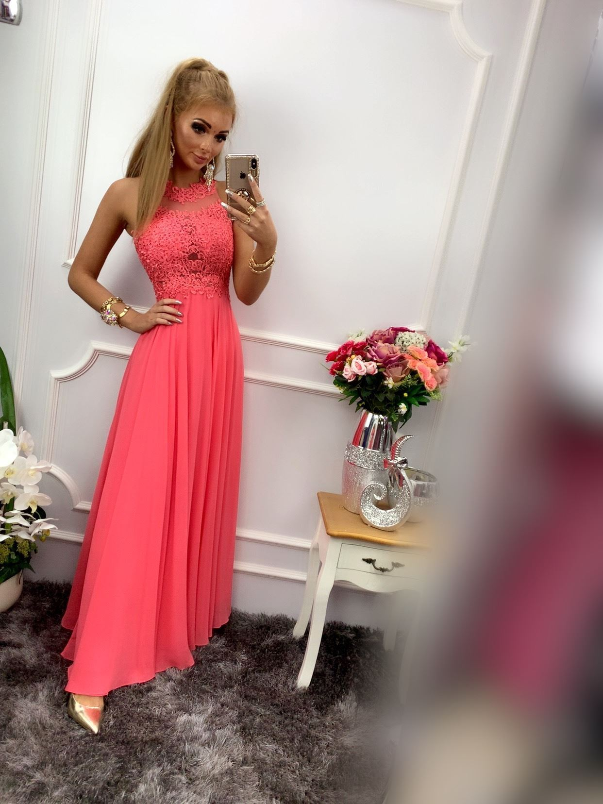 products 0003574 sukienka bugatti dluga koralowa 1