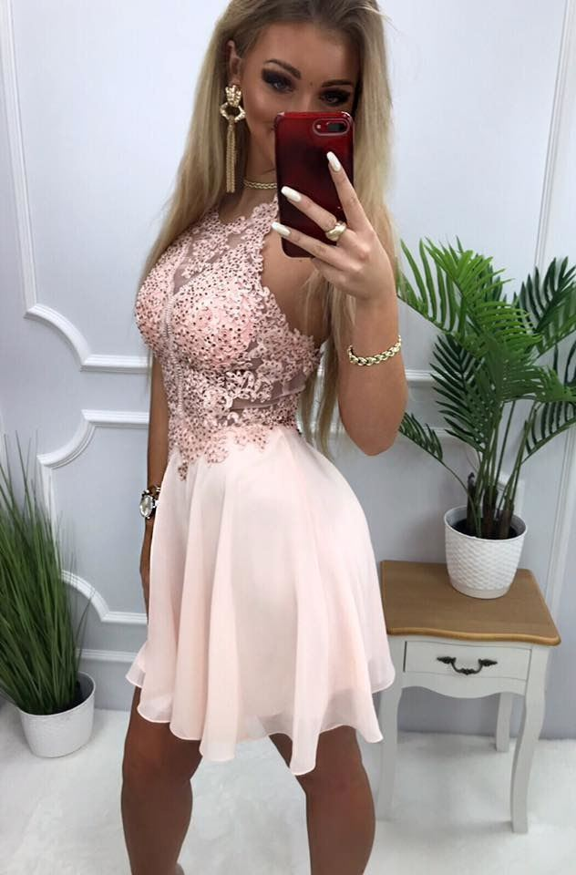 products 0003578 sukienka mercedes krotka pudrowy roz 1