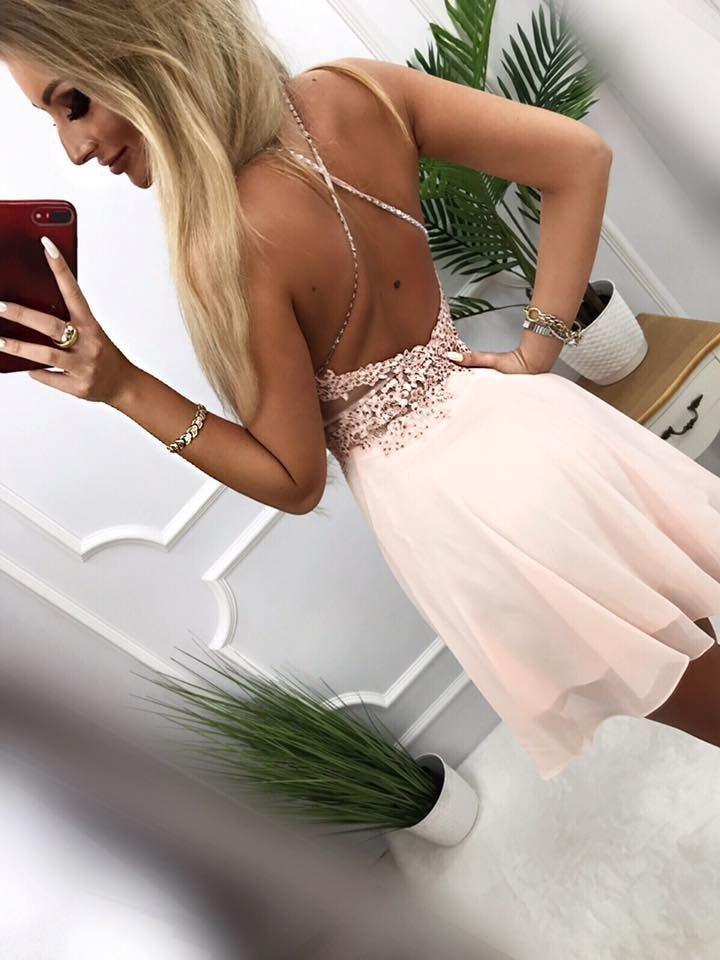 products 0003579 sukienka mercedes krotka pudrowy roz 1