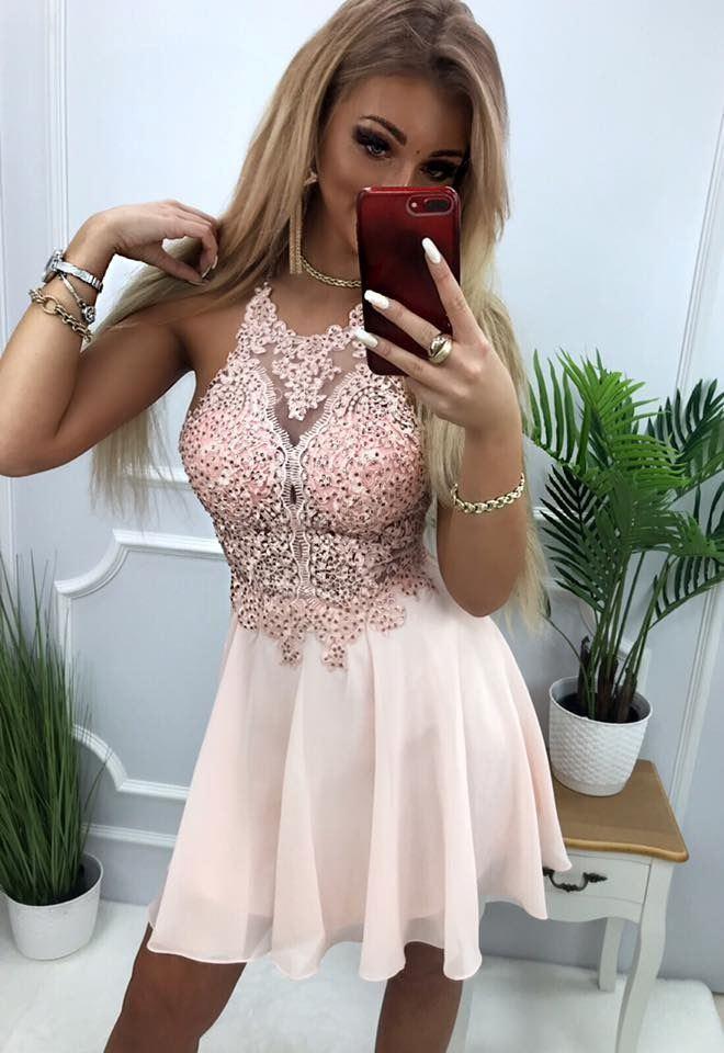 products 0003580 sukienka mercedes krotka pudrowy roz 1