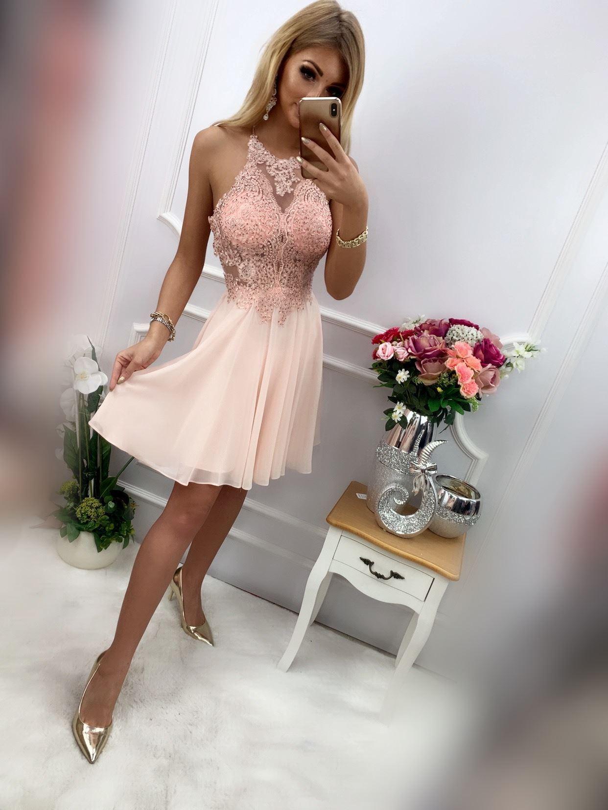 products 0003582 sukienka mercedes krotka pudrowy roz 1