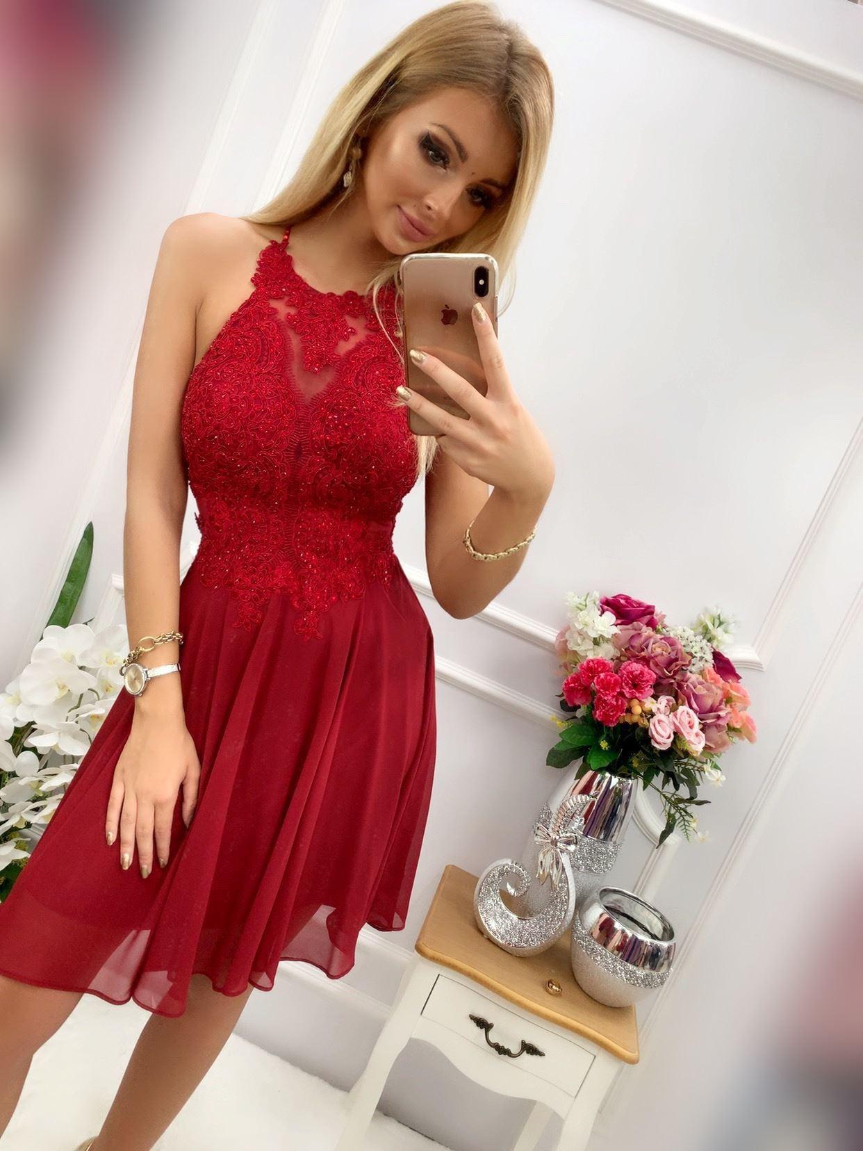 products 0003598 sukienka mercedes krotka bordowa 1