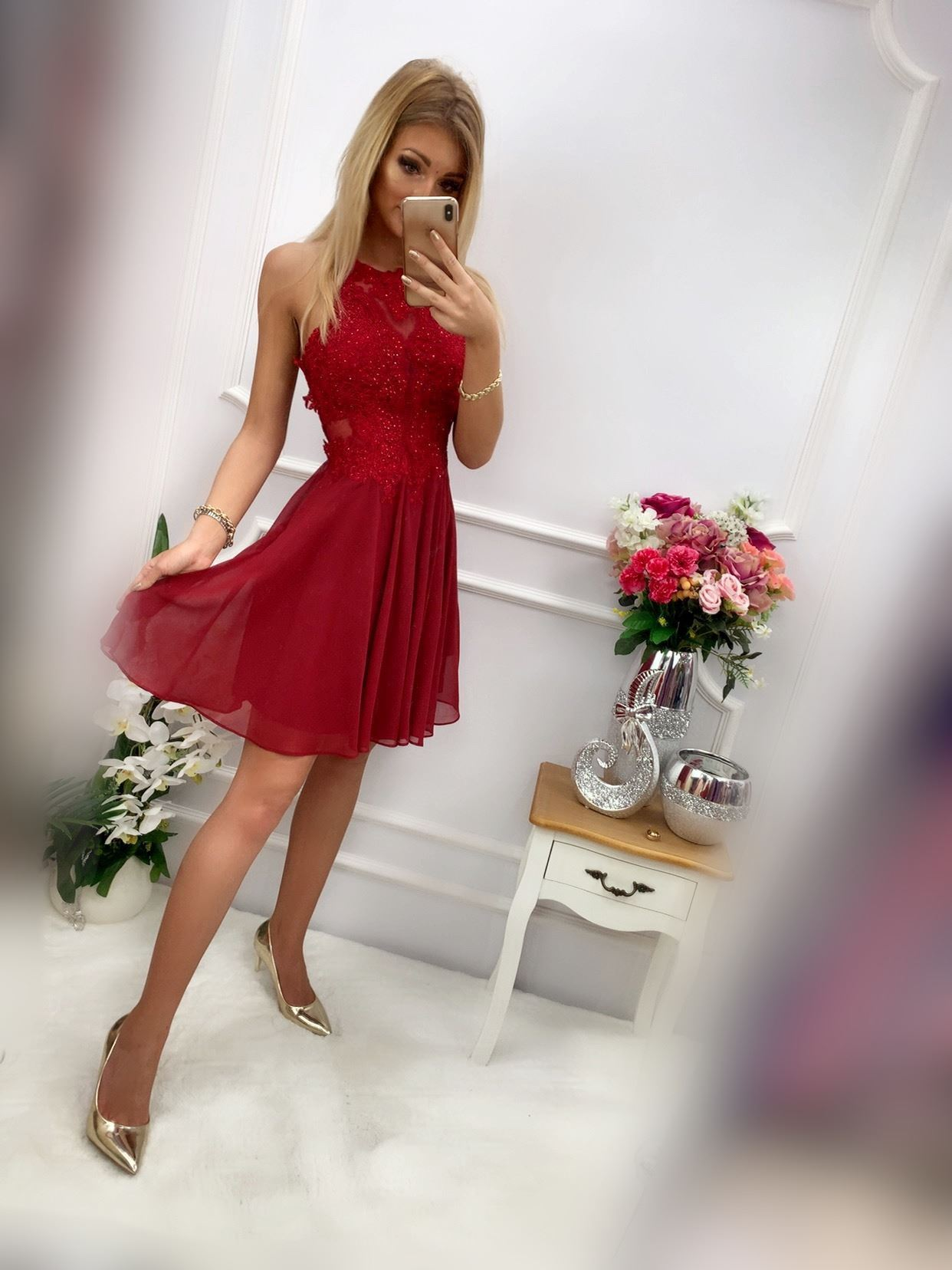 products 0003599 sukienka mercedes krotka bordowa 1