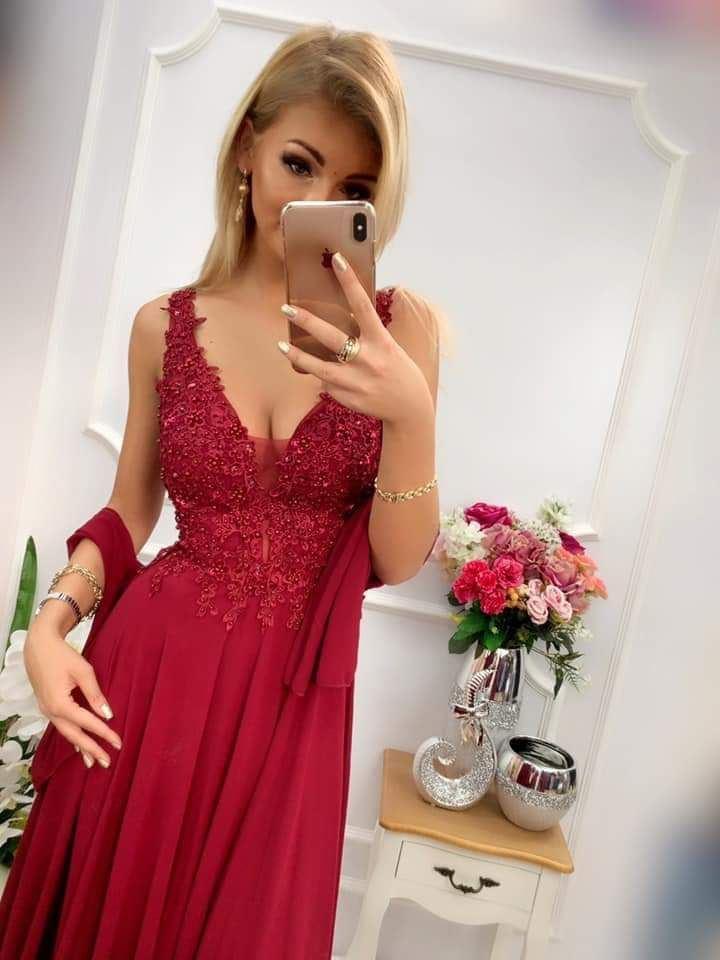 products 0003610 sukienka jagoda dluga bordowa 1