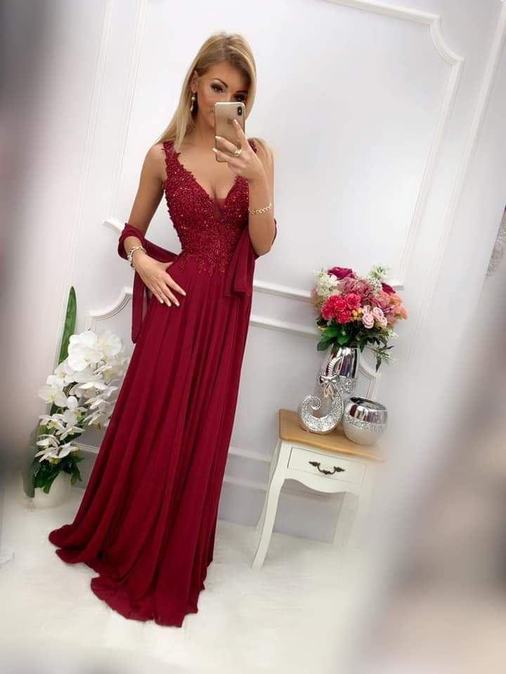 products 0003612 sukienka jagoda dluga bordowa 1