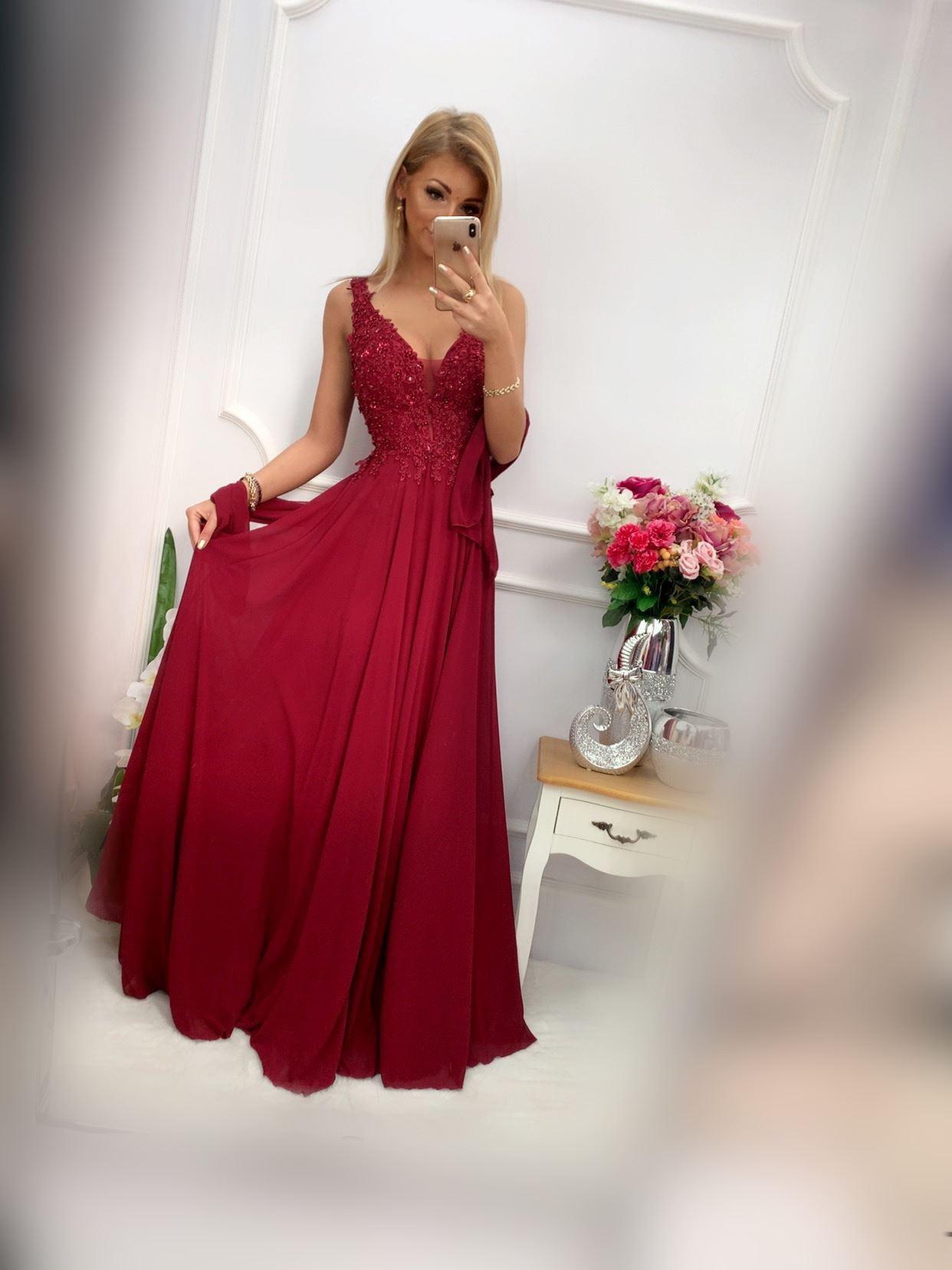products 0003613 sukienka jagoda dluga bordowa 1