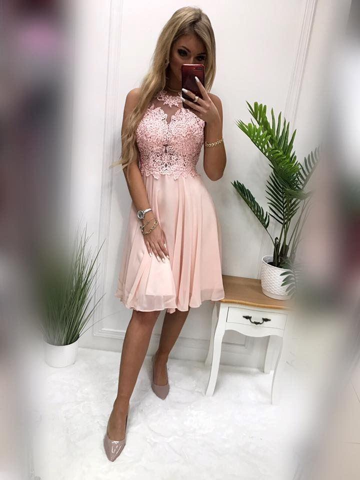products 0003633 sukienka bugatti krotka pudrowy roz 1