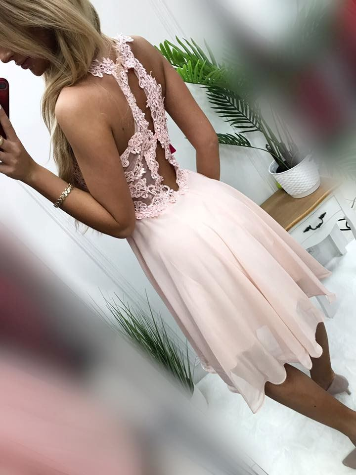 products 0003634 sukienka bugatti krotka pudrowy roz 1
