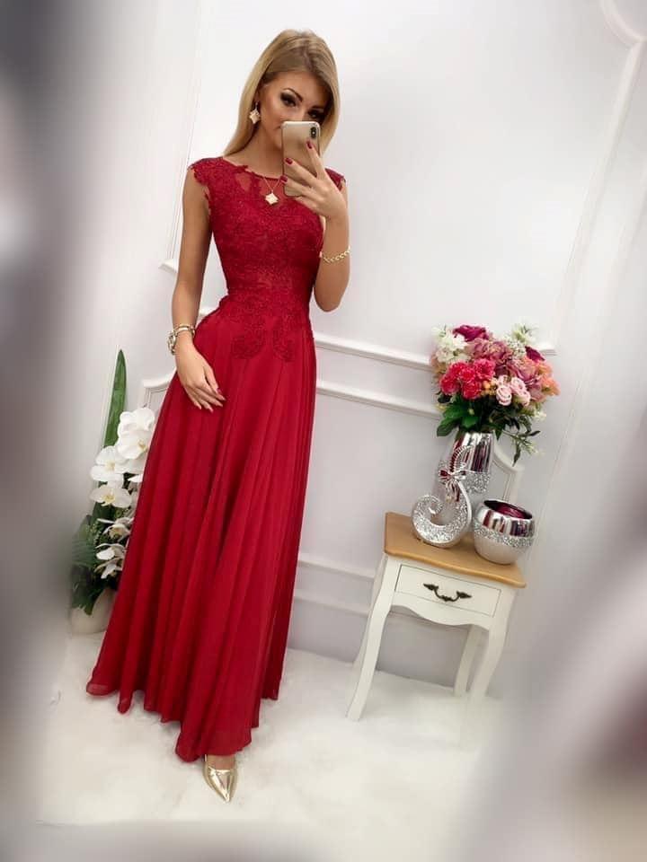 products 0003657 sukienka diva dluga bordowa 1
