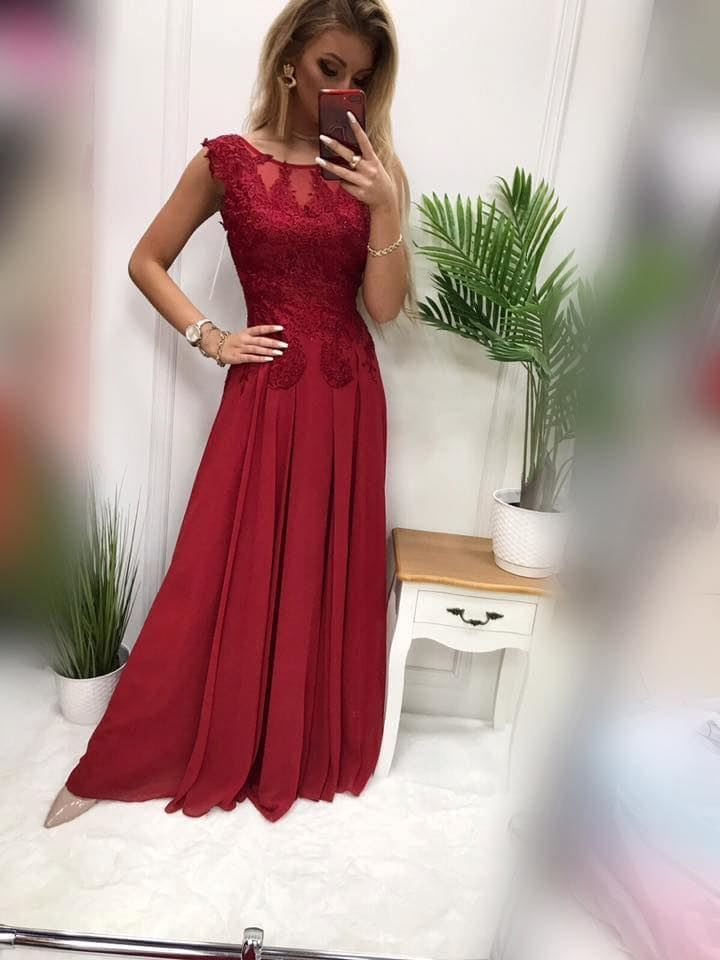 products 0003658 sukienka diva dluga bordowa 1