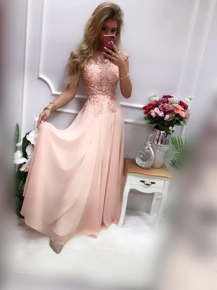 products 0003664 sukienka diva dluga pudrowy roz 1