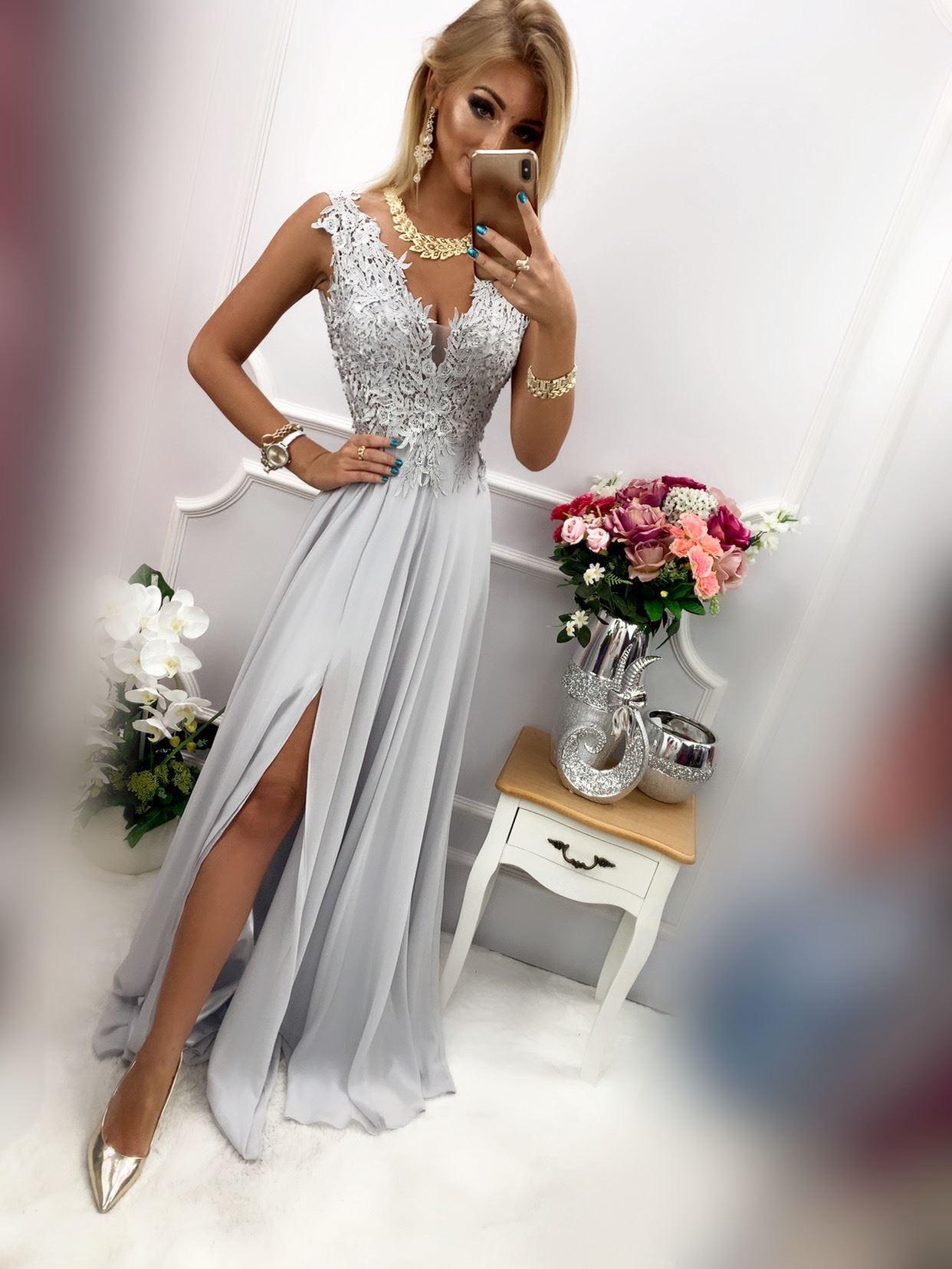 products 0003672 sukienka loren dluga szara 1