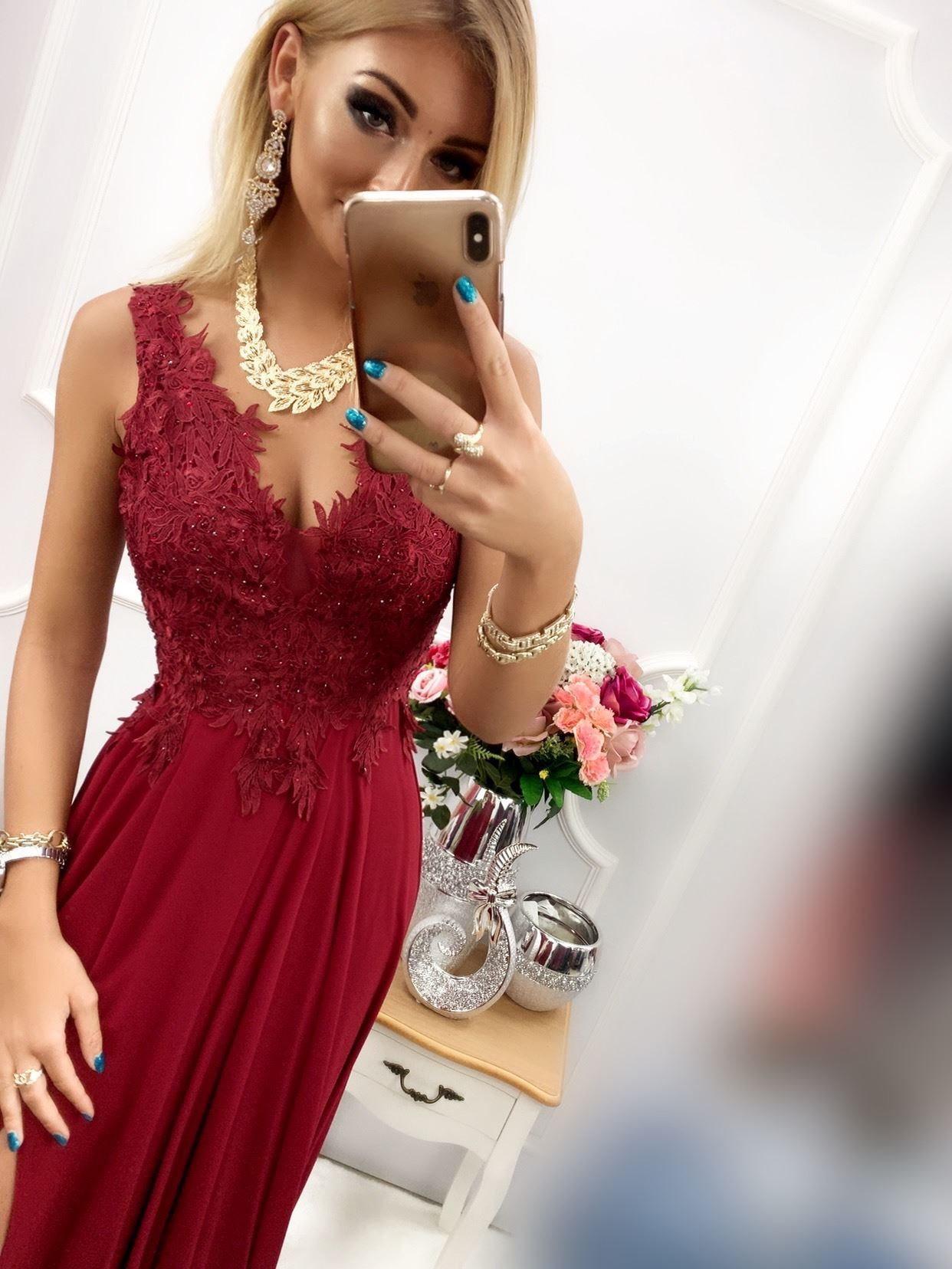products 0003679 sukienka loren dluga bordowa 1