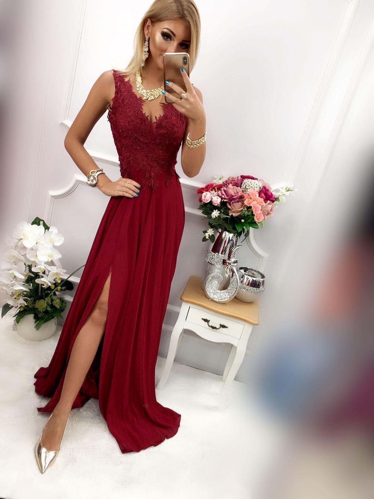 products 0003680 sukienka loren dluga bordowa 1