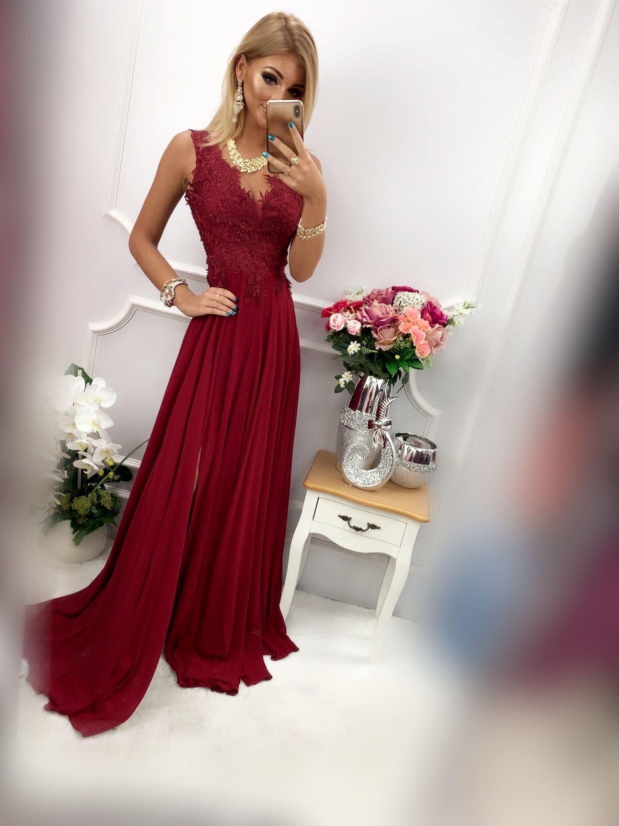 products 0003681 sukienka loren dluga bordowa 1