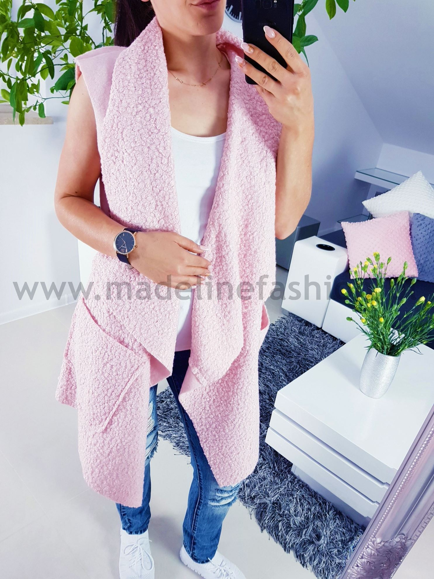 products 0003699 kamizelka davids dluga rozowa 1