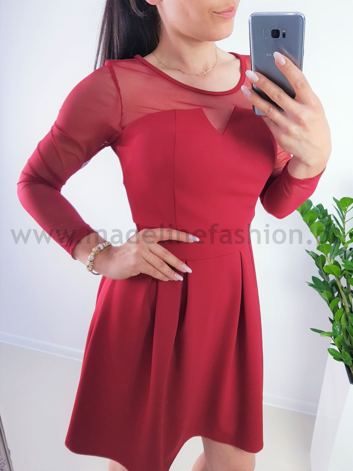 products 0003876 sukienka vacaldo midi bordowa 1