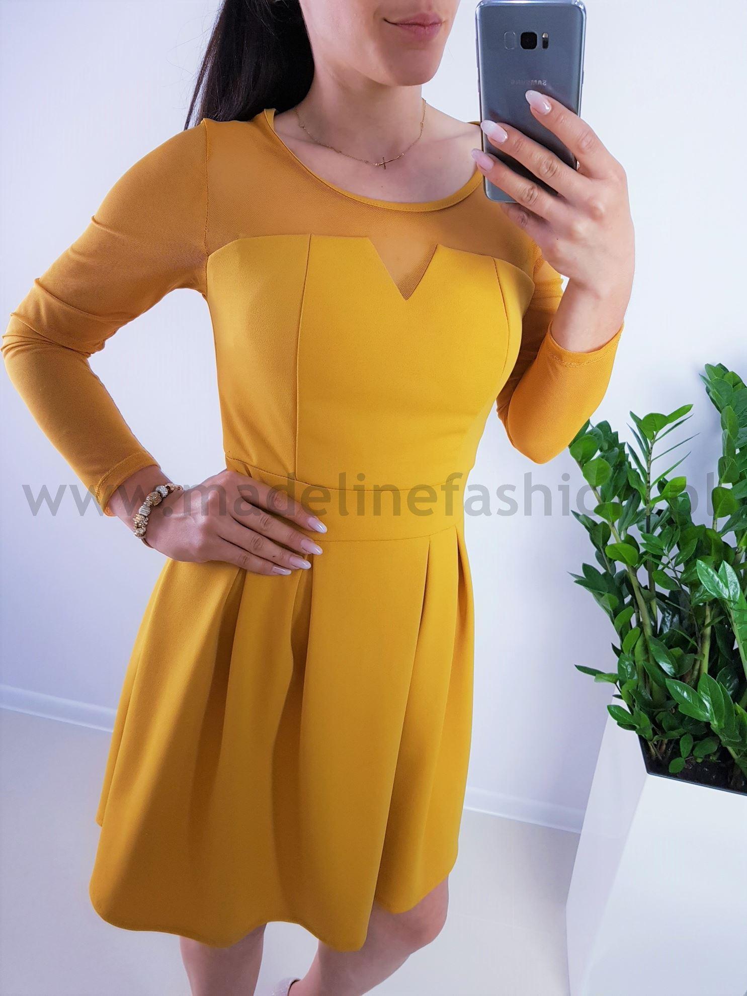products 0003878 sukienka vacaldo midi zolta 1