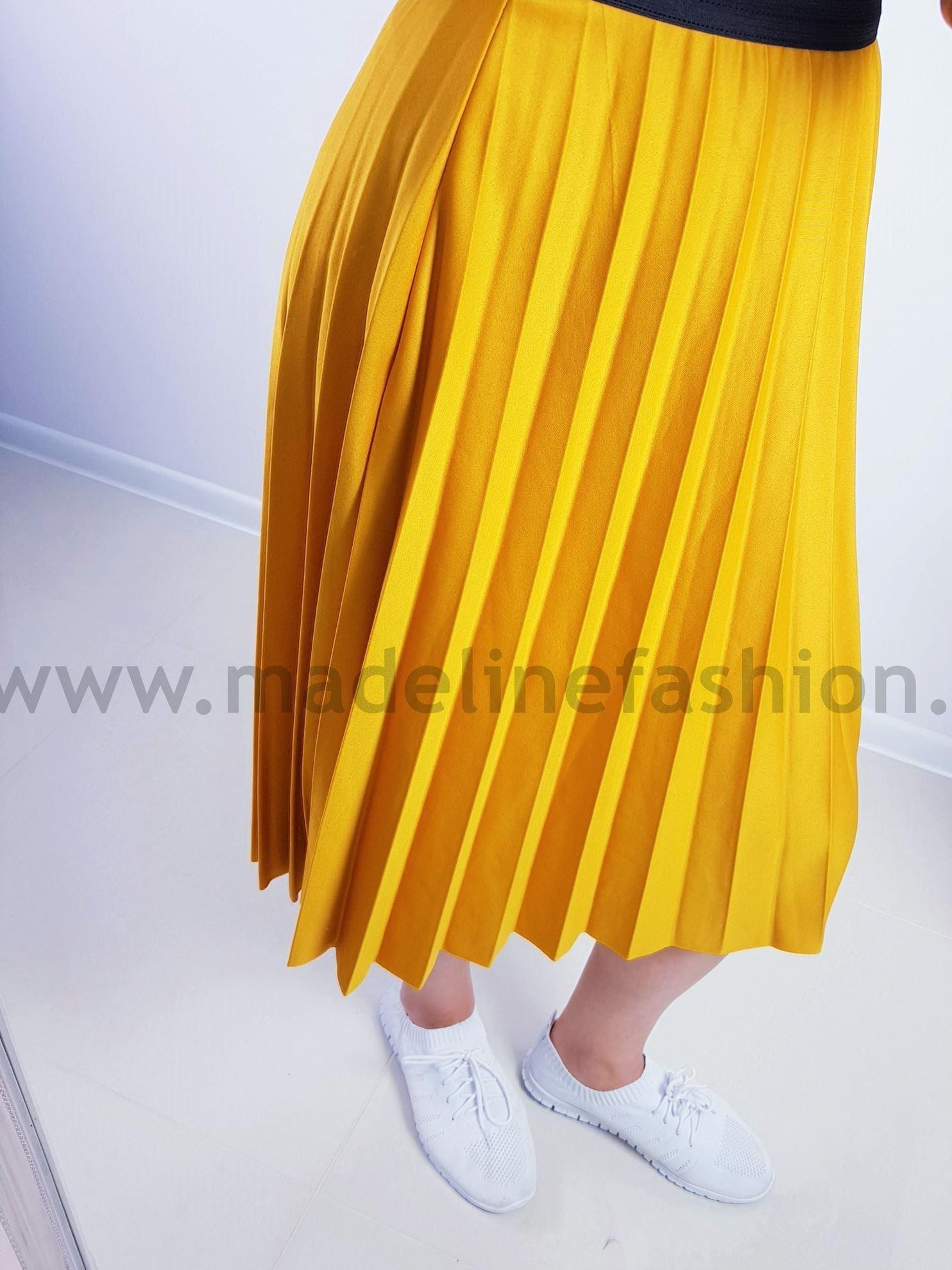 products 0003906 spodnica plisowana midi musztardowa 1