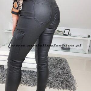 Spodnie Skóra Bojówki Czarne
