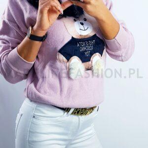 Sweter Moschino Miś Pudrowy Róż
